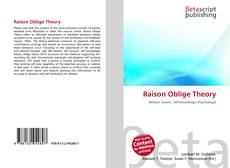 Bookcover of Raison Oblige Theory