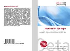 Portada del libro de Motivation for Rape