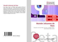 Bookcover of Wander Johannes de Haas
