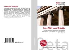 Couverture de Free Will in Antiquity