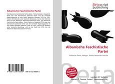 Capa do livro de Albanische Faschistische Partei