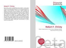 Bookcover of Robert F. Christy