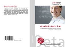 Couverture de Quadratic Gauss Sum