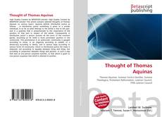 Bookcover of Thought of Thomas Aquinas