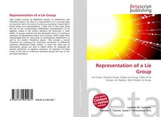 Bookcover of Representation of a Lie Group
