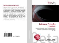Existence Precedes Essence的封面