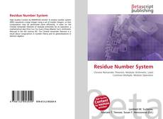 Bookcover of Residue Number System