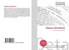 Bookcover of Albany (Schriftart)