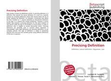 Bookcover of Precising Definition