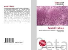 Bookcover of Robert Erickson