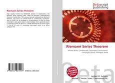 Portada del libro de Riemann Series Theorem