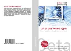 Bookcover of List of DNS Record Types