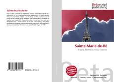 Couverture de Sainte-Marie-de-Ré