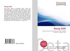 Bookcover of Wang 2200