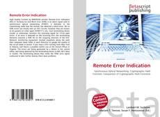 Buchcover von Remote Error Indication
