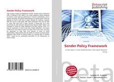 Bookcover of Sender Policy Framework