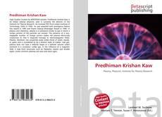 Bookcover of Predhiman Krishan Kaw