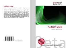 Nadeem Malik kitap kapağı