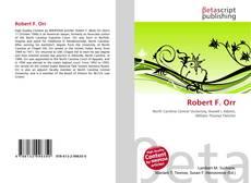 Robert F. Orr kitap kapağı