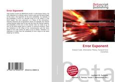 Bookcover of Error Exponent