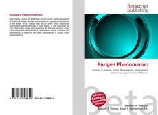 Bookcover of Runge's Phenomenon