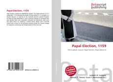 Papal Election, 1159 kitap kapağı