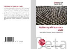 Capa do livro de Prehistory of Endurance UAVs