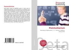 Bookcover of Preintuitionism