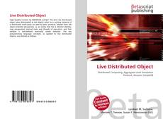 Bookcover of Live Distributed Object