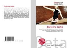 Ecaterina Szabo kitap kapağı