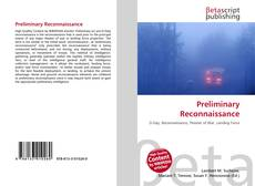Обложка Preliminary Reconnaissance