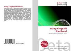 Portada del libro de Wang-Krogdahl Shorthand