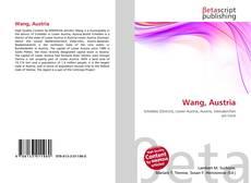 Capa do livro de Wang, Austria