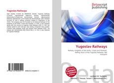 Portada del libro de Yugoslav Railways