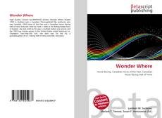 Bookcover of Wonder Where