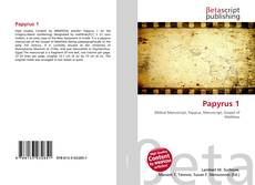 Bookcover of Papyrus 1