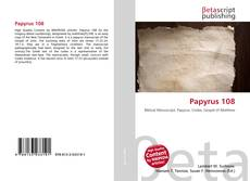 Bookcover of Papyrus 108