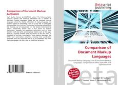 Bookcover of Comparison of Document Markup Languages