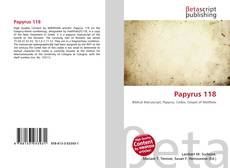 Bookcover of Papyrus 118