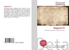 Capa do livro de Papyrus 31