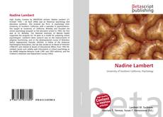 Bookcover of Nadine Lambert