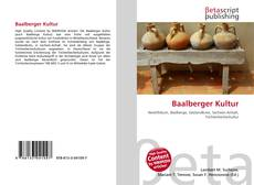 Bookcover of Baalberger Kultur
