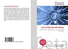 Bookcover of List of Device Bit Rates