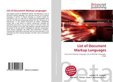Bookcover of List of Document Markup Languages