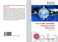 Copertina di List of XML and HTML Character Entity References