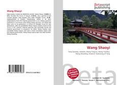 Wang Shaoyi kitap kapağı