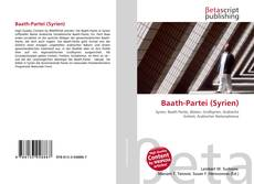 Capa do livro de Baath-Partei (Syrien)