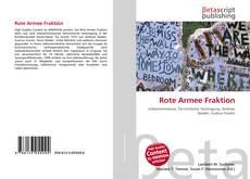 Buchcover von Rote Armee Fraktion