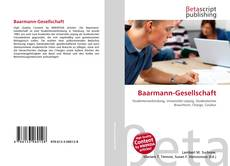 Baarmann-Gesellschaft kitap kapağı