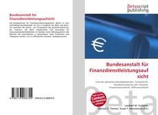 Couverture de Bundesanstalt für Finanzdienstleistungsaufsicht